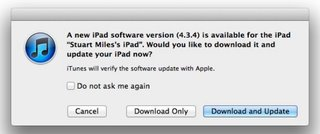 iOS 4.3.4 update for iPhone and iPad released