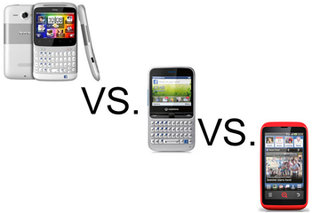 HTC ChaCha vs INQ Cloud Touch vs Vodafone 555 Blue