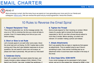 WEBSITE OF THE DAY - Email Charter