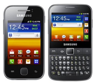 Samsung Galaxy Y and Galaxy Y Pro phones for the young at heart