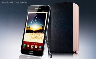 Samsung Galaxy Note brings a pen to the smartphone tablet space