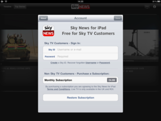 Sky News iPad app paywall goes up, now £4.99 a month for non-Sky subscribers