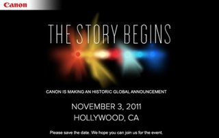 "Canon promises ""historic"" Hollywood 3 November product launch"