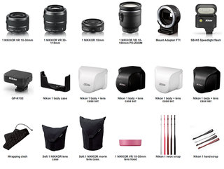 Nikon 1 V1 and J1 cameras complemented by lens and accessory range
