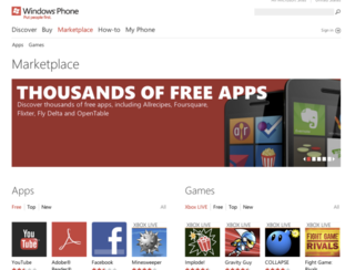Microsoft Windows Phone Marketplace updated, lets you buy apps via browser
