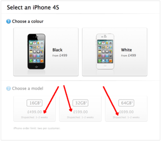 iPhone 4S: Apple day one online pre-order stock runs out