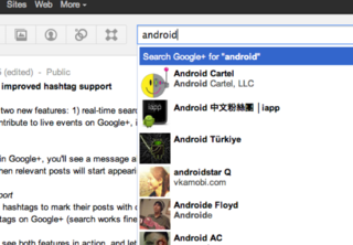 Google+ gets real-time search and hashtag support