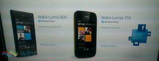 Nokia Lumia 800 and Nokia Lumia 710 leak