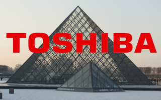 LED art as Toshiba lights up the Louvre
