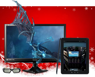 The Pocket-lint Xmas Spectacular - Day 8: Win a ViewSonic ViewPad 10e and V3D245 Dragon 3D monitor