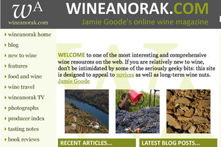 WEBSITE OF THE DAY: Wine Anorak