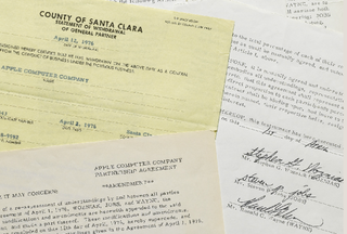 Apple's founding documents sell at auction for $1.6 million