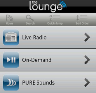 Pure Lounge app tunes in on Android