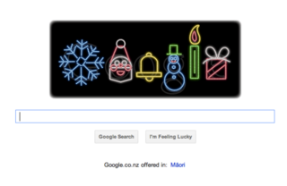 merry christmas google doodle lights up the holidays