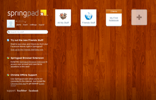 app of the day springpad review image 1