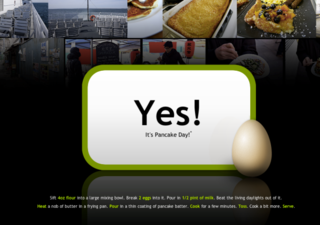 WEBSITE OF THE DAY: Is It Pancake Day?