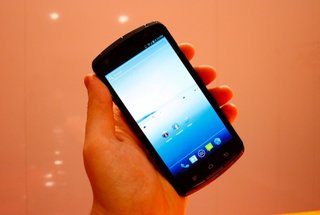 Fujitsu quad-core smartphone pictures and hands-on