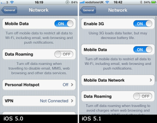 Disable 3G option returns to iPhone in iOS 5.1