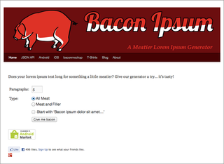 WEBSITE OF THE DAY: Baconipsum