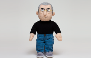 Steve Jobs stuffed toy ups the crass stakes