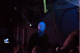 Nikon D800 low light test with the Blue  Man Group