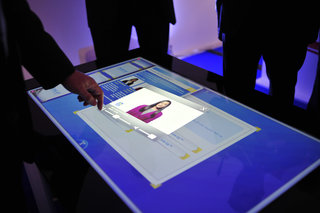 microsoft surface with pixelsense pictures and hands on image 3