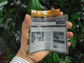 LG bendable eBook display ready for mass production