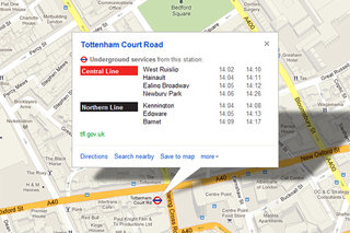 Google Maps adds London Underground real time alerts