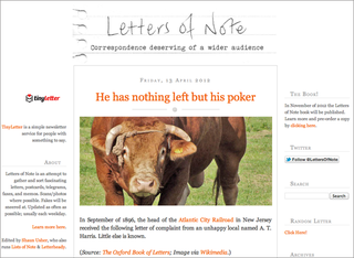 WEBSITE OF THE DAY: Letters of Note