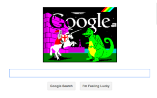 Google doodle celebrates ZX Spectrum 30th birthday and St George's Day at same time