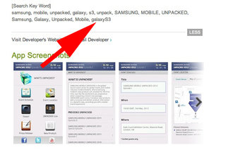 Samsung Unpacked app confirms Samsung Galaxy S3 launch name