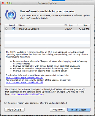 Apple updates OS X Lion, fixes FileVault password issue
