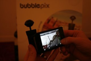 hands on bubblescope 360 degree iphone camera accessory image 2