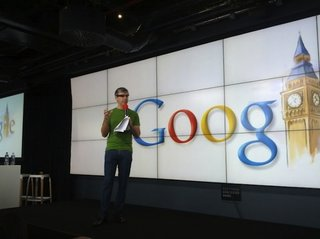 Now Larry Page has been spotted wearing Google's augmented reality glasses