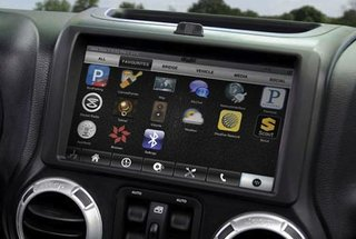 Jeep Wrangler with futuristic dashboard courtesy of RIM-owned QNX shown off