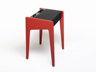 La Boite table doubles up as a laptop docking station