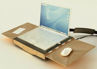 OpenAire laptop bag transforms into a chair and mobile workdesk