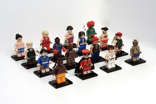 Lego fan creates Street Fighter II figurines