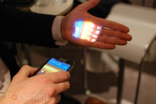 Samsung Galaxy Beam projects into the UK