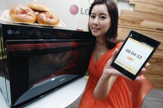 LG's Lightwave Oven with remote temperature control via your smartphone