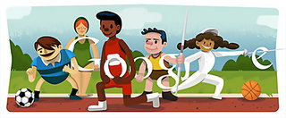 London 2012 Olympic Games Google Doodles