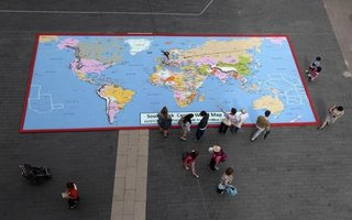 Lego map of the world completed outside Southbank Centre