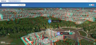 Nokia rocks out 3D world map, but don't forget your glasses