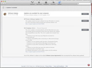 OS X 10.8.1 Mountain Lion update rolls out