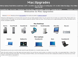 WEBSITE OF THE DAY: Mac Upgrades