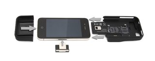 iPhone protective case gives option of dual SIM card support