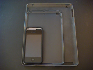iPhone 5 and iPad mini cases show sizes in comparison to iPhone 4S and iPad