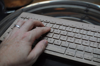 oree board wooden keyboard pictures and hands on image 16