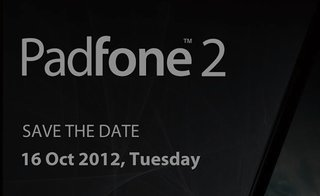 Asus invite confirms existence of Padfone 2 smartphone, laptop and tablet hybrid