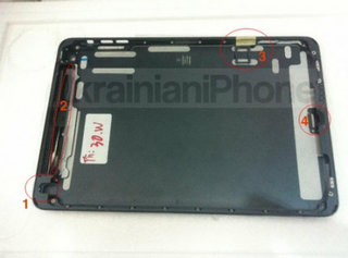 iPad mini parts turn up, mimics black iPhone 5 design